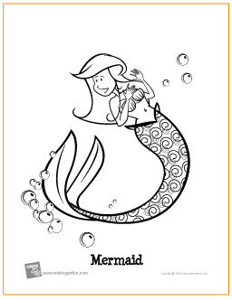 Mermaids | Free Printable Coloring Pages | the art student
