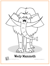 Coloring pages the art student page 3 for Wooly mammoth coloring page