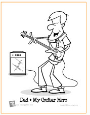 guitar hero coloring pagepng
