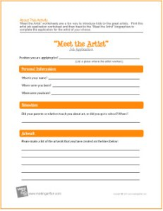 artist-employment-application-worksheet