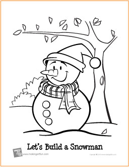 Lets Build A Snowman Coloring Page